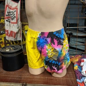 1990 Surf Swimming Trunks Thigh Highs Short Shorts